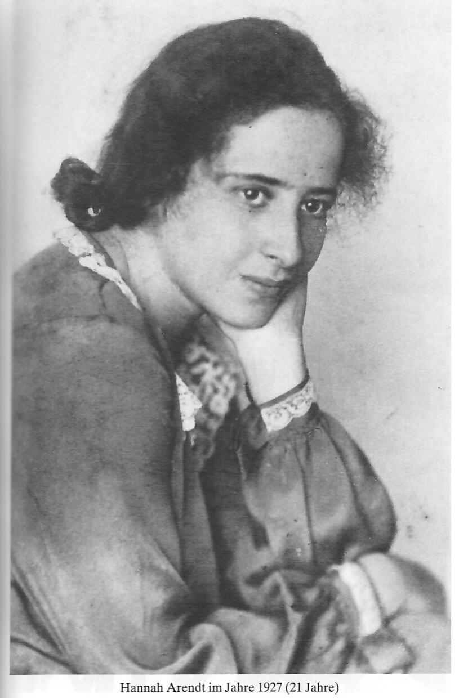 Foto Hannah Arendt mit 21